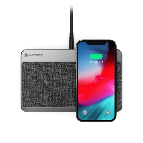 ALOGIC Power Hub Multi-Device Wireless & Charging Station – Space Grey - Dual Wireless Charger, USB-A (7.5W) and USB-C Power Delivery (18W)