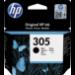 HP 305 cartucho de tinta 1 pieza(s) Original Rendimiento estándar Negro