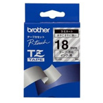 Brother Black on Clear Gloss Laminated Tape, 18mm TZ label-making tape