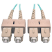 "Tripp Lite N806-15M fiber optic cable 590.6"" (15 m) OM3 2x SC Turquoise,Beige"