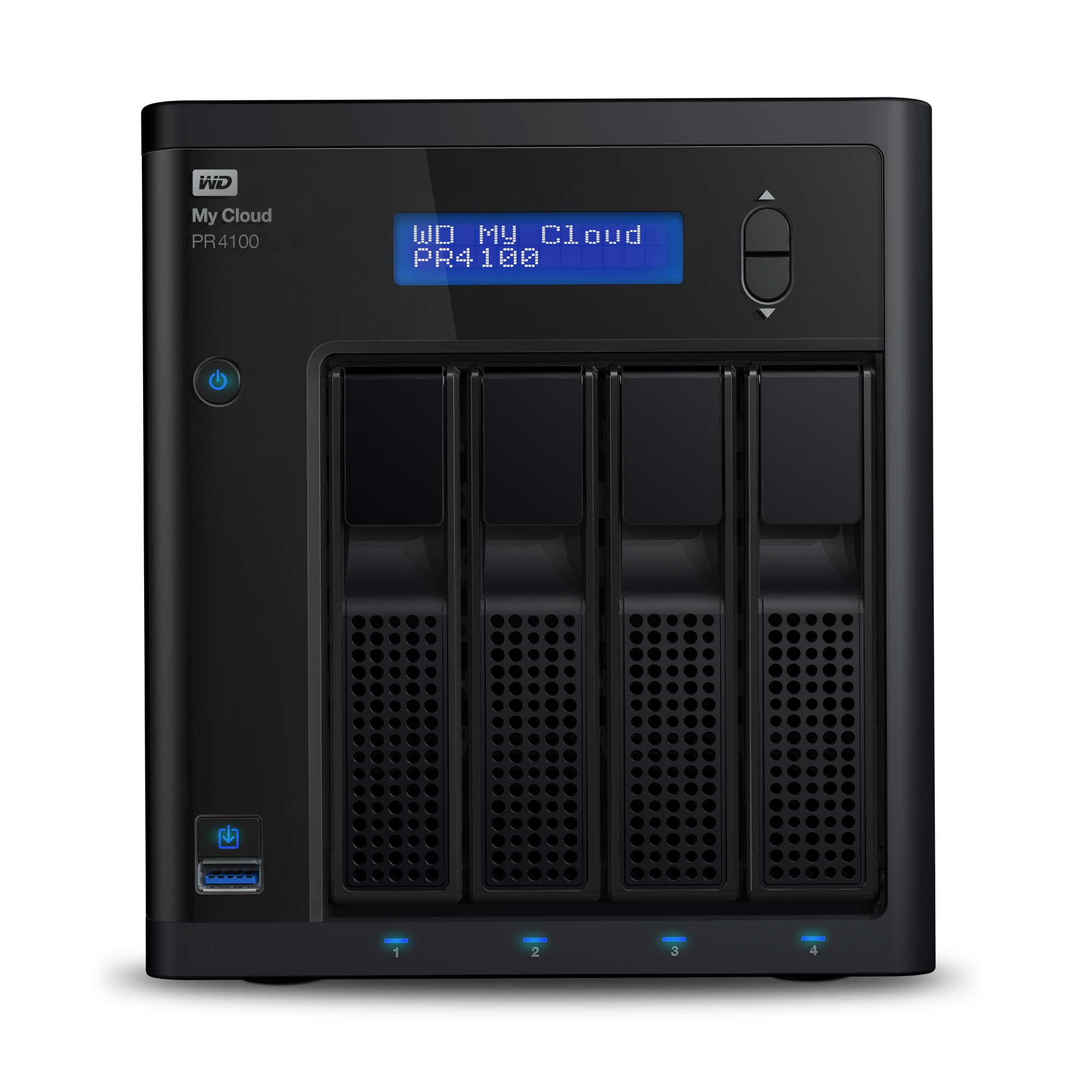 Western Digital My Cloud PR4100 N3710 Ethernet Escritorio Negro NAS