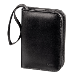 Hama 00095983 memory card case 18 cards Faux leather Black