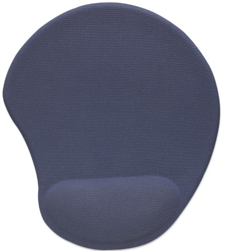 Manhattan Ergonomic Gel Mouse Pad, Low friction, Non slip base, Polyester jersey, neoprene and polyurethane gel