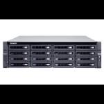 QNAP TS-1673U-RP-16G 128TB 16x8TB Seagate Exos 16 Bay NAS Rackmount Rack (3U) Ethernet LAN Black, Grey