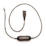 Jabra Cord for Alcatel, 500mm + 3.5m cable telefónico 3,5 m Negro