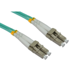 Cables Direct 1.0m LC-LC 50/125 MMD OM3 1m LC LC Blue fiber optic cable