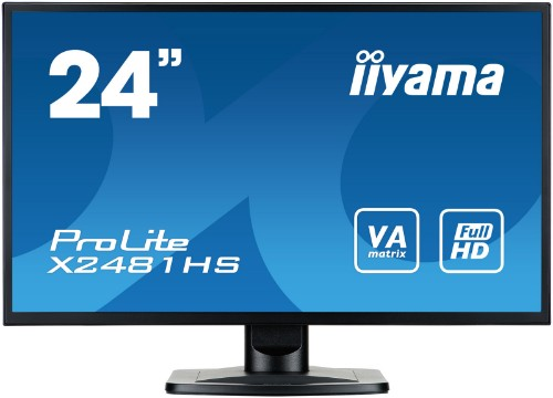 "iiyama ProLite X2481HS-B1 23.6"" Full HD LED Matt Flat Black computer monitor LED display"