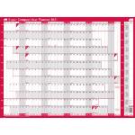 Sasco 2410129 wall planner Pink,White 2021
