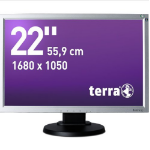"Wortmann AG Terra 2230W, Greenline Plus 22"" LED Black, Silver computer monitor"