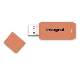 Integral NEON USB flash drive 128 GB USB Type-A 2 Orange