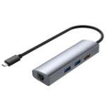 4XEM 4XUHP3408 notebook dock/port replicator Wired USB 3.2 Gen 1 (3.1 Gen 1) Type-C Gray