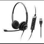 Sennheiser SC 260 USB CTRL II USB Binaural Head-band Black headset
