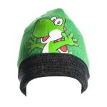 Nintendo Super Mario Bros. Yoshi Folded Brim Beanie, One Size, Green/Black (KC08LXSMB)