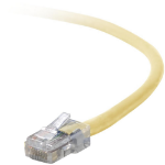 "Belkin Cat5e, 1ft, 1 x RJ-45, 1 x RJ-45, Yellow networking cable 11.8"" (0.3 m)"