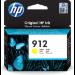 HP 912 Original Amarillo 1 pieza(s) Rendimiento estándar