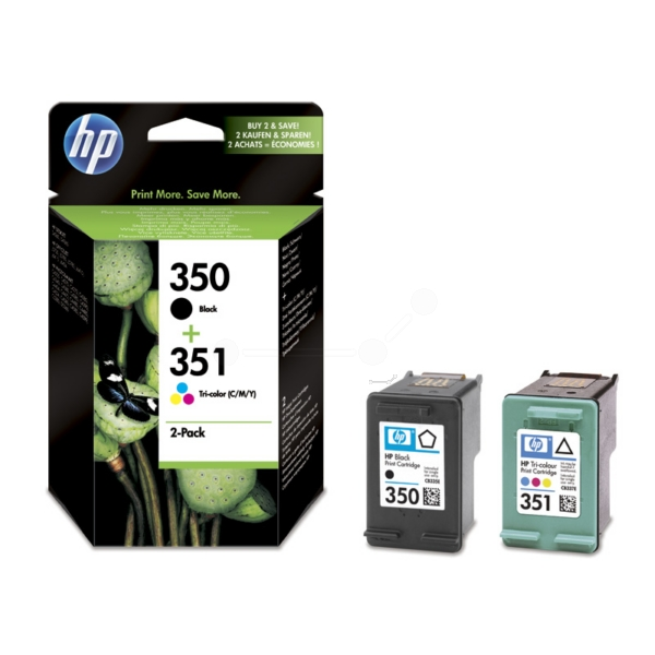 HP SD412EE (350+351) Printhead multi pack, 200 pg + 170 pg, Pack qty 2