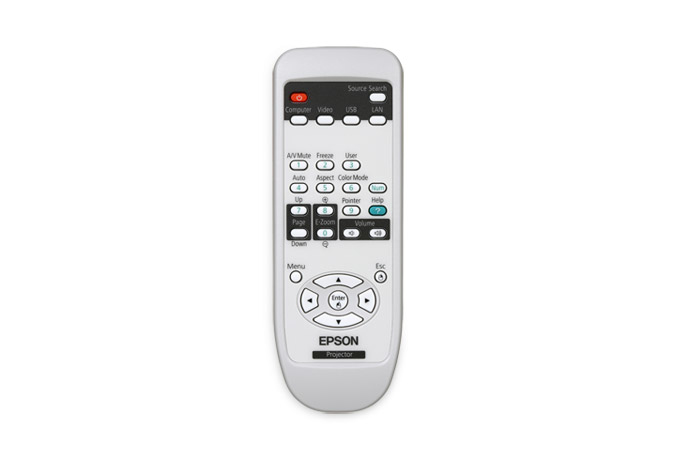 Epson 1519442 Press buttons Black,Grey,White remote control