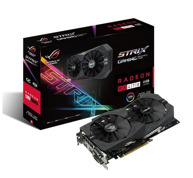ASUS STRIX-RX470-O4G-GAMING AMD Radeon RX 470 4GB