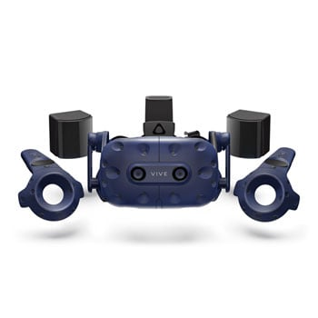 HTC VIVE PRO Full Kit - HD VR Headset Updated Controllers and 2.0 Base Stations Bundle