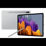 """Samsung Galaxy Tab S7 SM-T875N 27.9 cm (11"""") Qualcomm Snapdragon 8 GB 128 GB Wi-Fi 6 (802.11ax) 4G LTE-TDD & LTE-FDD Silver Android 10"""