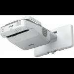 Epson EB-675W Wall-mounted projector 3200ANSI lumens 3LCD WXGA (1280x800) Grey,White data projector
