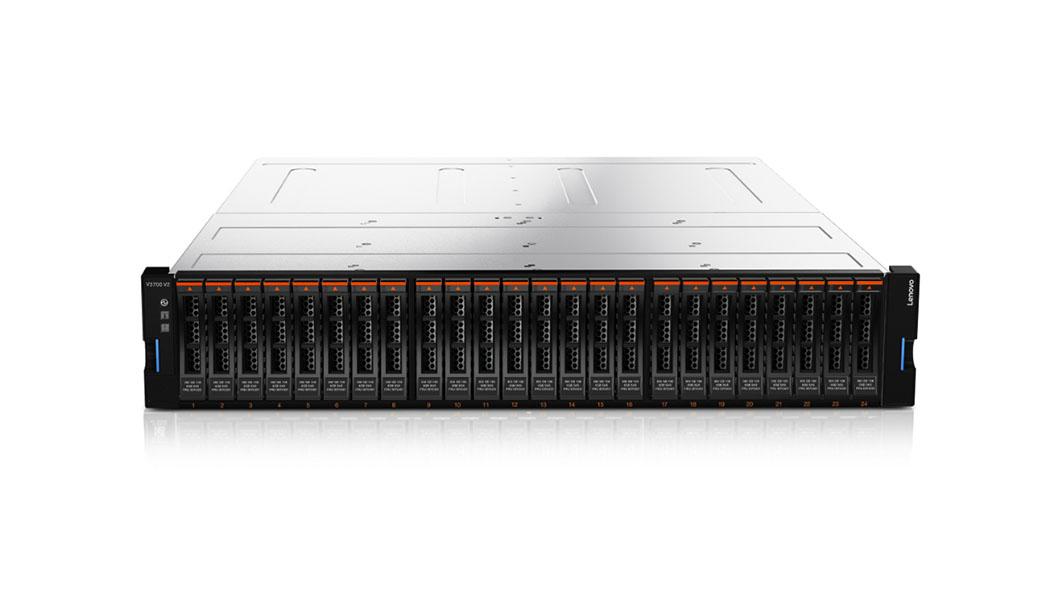 Lenovo Storage V3700 V2 Rack (2U) Black, Silver disk array
