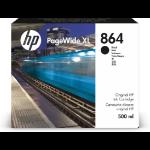 HP 864 500-ml Black PageWide XL Ink Cartridge 1 pc(s) Original High (XL) Yield 3ED86A