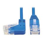 Tripp Lite Left-Angle Cat6 Gigabit Molded Slim UTP Ethernet Patch Cable (RJ45 Left-Angle M to RJ45 M), Blue, 0.91 m