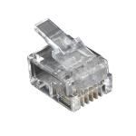 Black Box FMTP411-50PAK wire connector RJ-11 Transparent