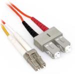 """AMC Optics 2m, LC/SC, MMF fiber optic cable 78.7"""" (2 m) OFC Orange"""