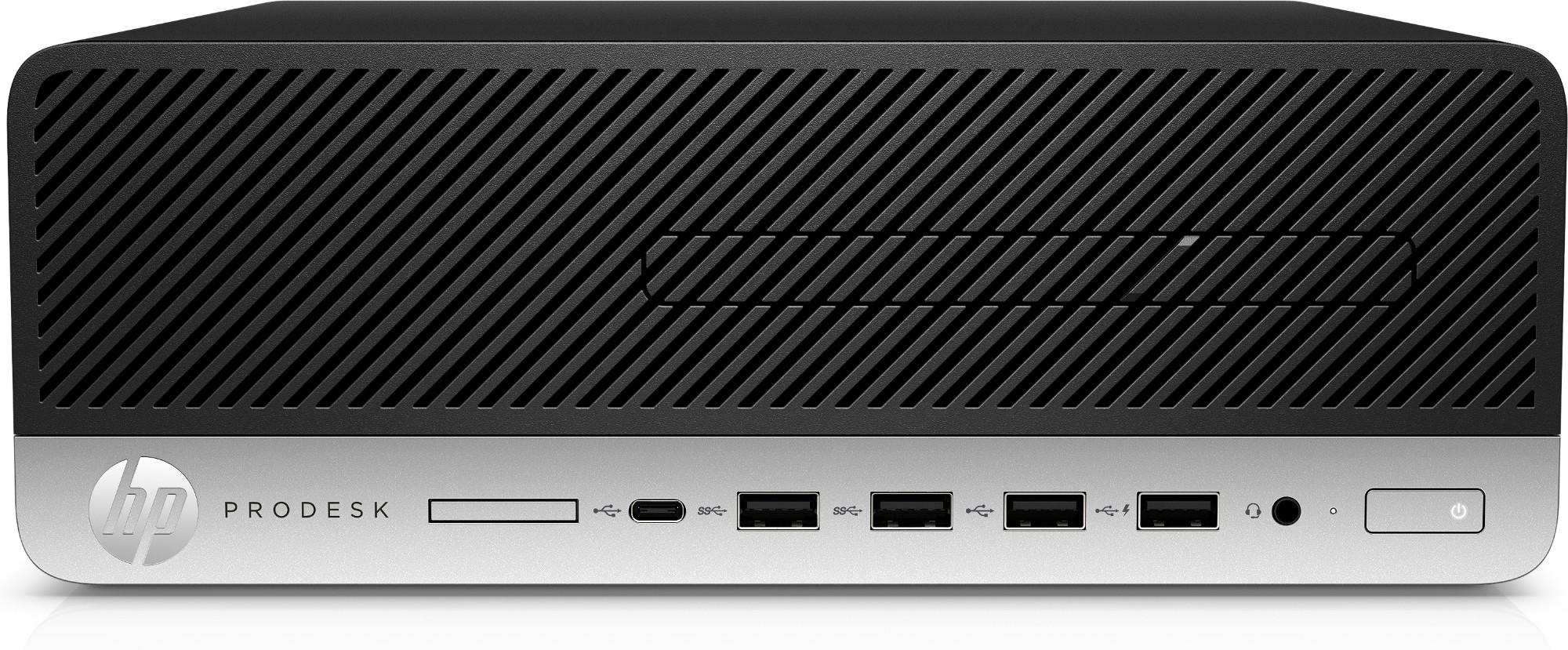 HP ProDesk 405 G4 AMD Ryzen 5 PRO 2400G 8 GB DDR4-SDRAM 256 GB SSD SFF Black PC Windows 10 Pro