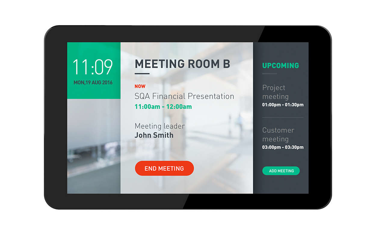 """Philips 10BDL4151T/00 signage display 25.6 cm (10.1"""") HD Touchscreen Interactive flat panel Black"""