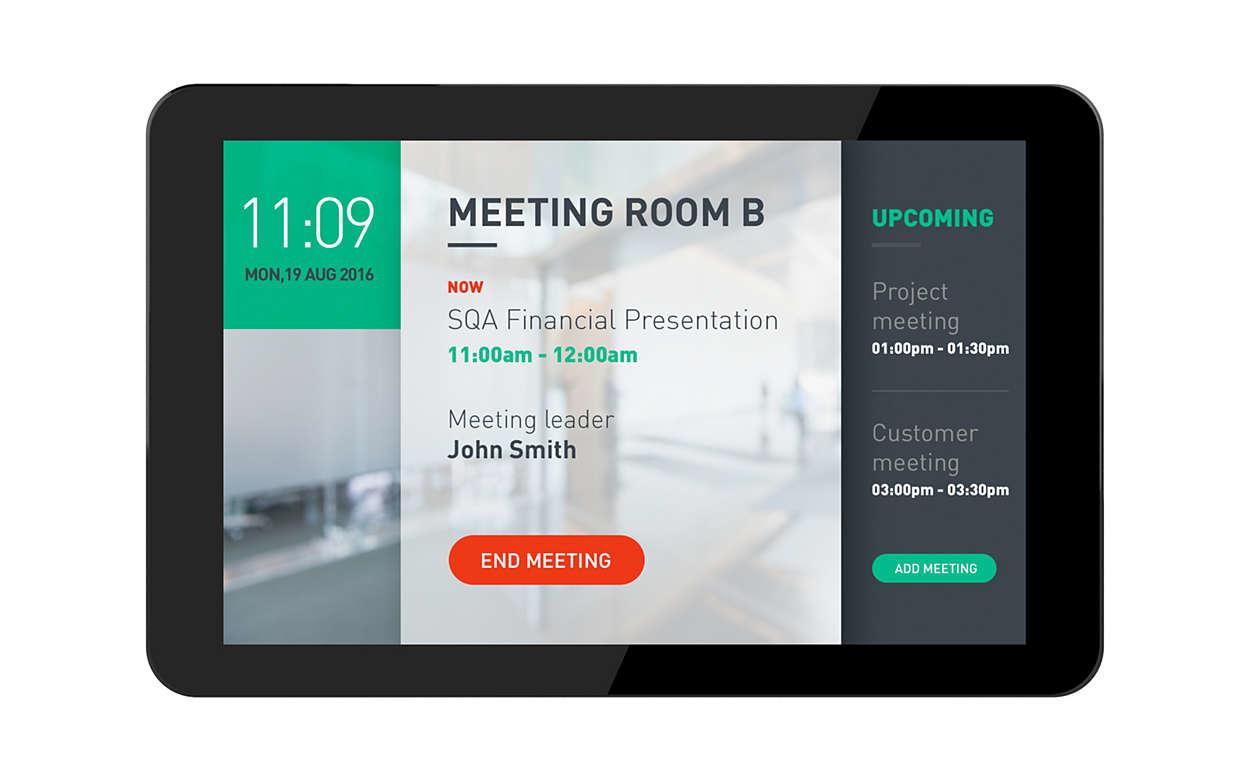 """Philips 10BDL4151T/00 pantalla de señalización 25,6 cm (10.1"""") HD Pantalla táctil Panel plano interactivo Negro"""