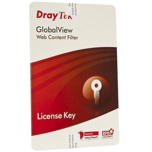 Draytek GlobalView Web Filtering - 12 months licence, Group A products