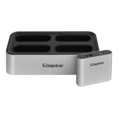 Kingston Technology Workflow Station Wired USB 3.2 Gen 2 (3.1 Gen 2) Type-C Black, Silver