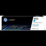 HP CF541X (203X) Toner cyan, 2.5K pages