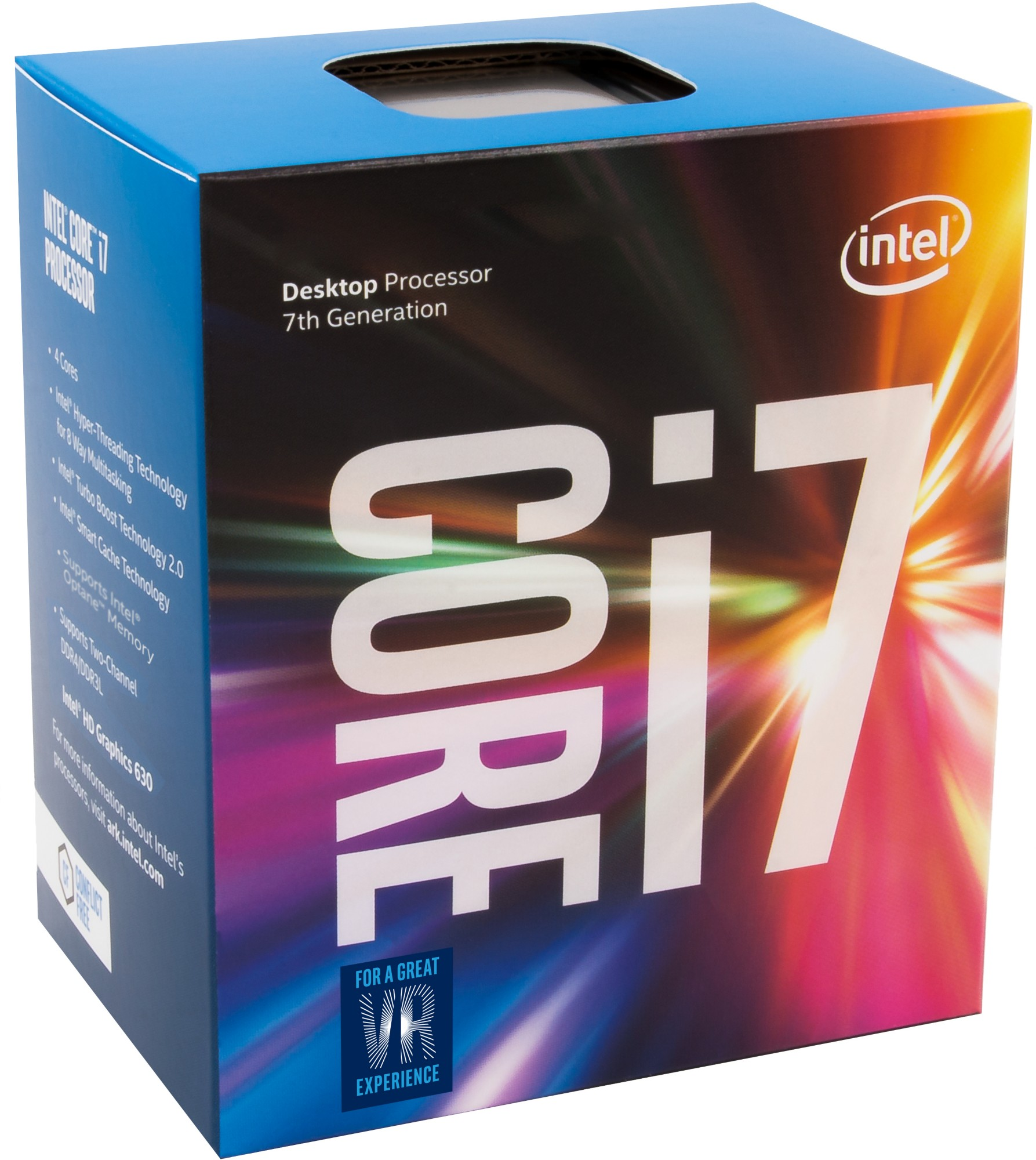 Intel Core i7-7700K 4.2GHz 8MB Smart Cache Box processor