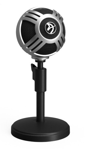 Arozzi Sfera Pro Table microphone Wired Black, Silver