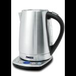 Zanussi ZEK-1295D electric kettle 1.7 L 2200 W Black, Stainless steel
