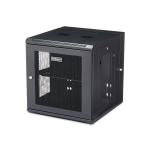 "StarTech.com 12U 19"" Wall Mount Network Cabinet - 20"" Deep 4 Post Hinged Locking IT Computer Equipment Enclosure w/Shelf - Flexible Vented Switch Depth Data Rack Cisco 3850, 2960 Series"