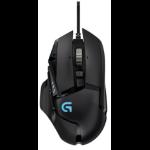 Logitech G502 mice USB Optical 12000 DPI Right-hand Black