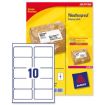 Avery Weatherproof Shipping Labels White 250pc(s) self-adhesive label