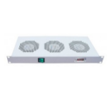 "Intellinet 3-Fan Ventilation Unit for 19"" Racks, 1U, Grey 712378"