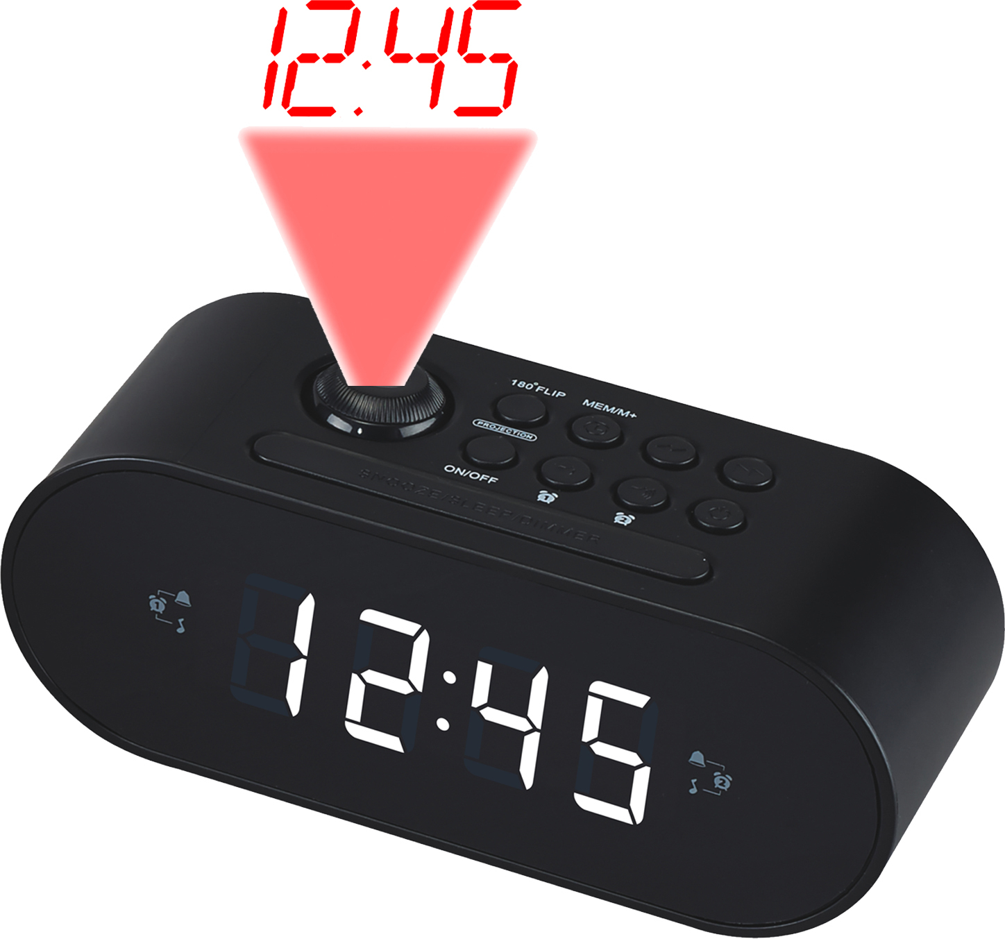 Denver Electronics CRP-717 Clock Digital Black radio