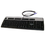 HP PS/2 Standard Keyboard PS/2 QWERTY English Black, Silver