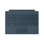 Microsoft Surface Pro Signature Type Cover mobile device keyboard Blue QWERTY UK English Microsoft Cover port