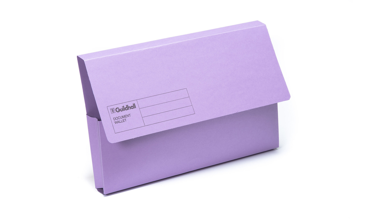 Guildhall Manilla 285g Foolscap Document Wallet Violet PK50