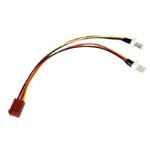 3-Pin Fan (F) to 2 x 3-Pin Fan (M + M) 0.15m Internal Splitter Cable