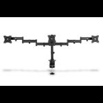 """ASSMANN Electronic DA-90362 soporte de mesa para pantalla plana 68,6 cm (27"""") Abrazadera Negro"""