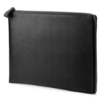 "HP Elite 13.3 Black Leather Sleeve notebook case 33.8 cm (13.3"") Sleeve case"